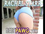 Nose Deep in Rachel Starrr Round Ass Giving Rimjob