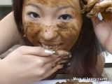 Asian Girl Eating Her Own Shit
