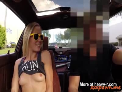 Amateur babe sells her car and her pussy