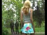 Girl Flashing In Front Of Soldiers