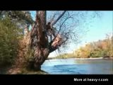 Rope swing fail turns guy into zombie