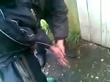 Washing hands russian style