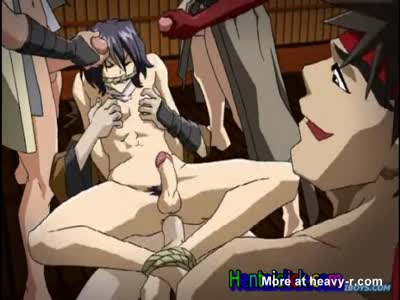 Hentai twink sits on a hard dick and hardcore