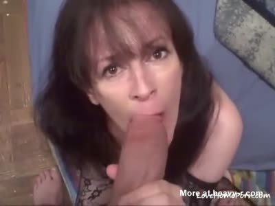 Sucking on the biggest dick shes ever seen