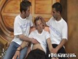 Threesome Gay loves bareback sex and anal creampie