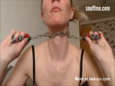 Self Suffocation With Chain