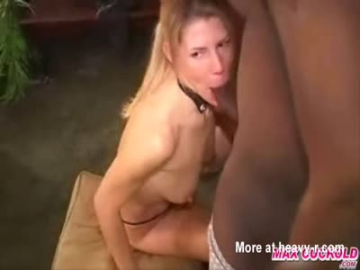 Blonde Wife Giving Blowjob To Strangers