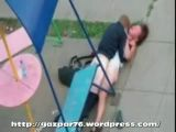 Drunk girl fucked in kids playground