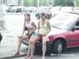 Pissing on the streetside