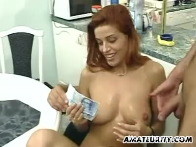 Amateur Threesome For Money