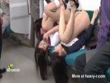 Half Naked Schoolgirls In Subway