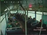 Crashing bus ejects passengers