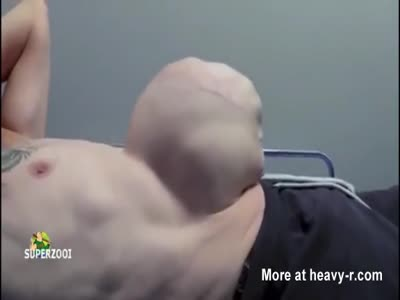 Alien Baby Grows From Mans Belly
