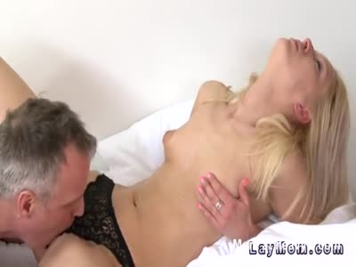 Blonde Milf gets Pussy Eaten Out