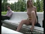 Girl gets naked in public