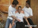 Hot Threesome Gay Sex  Action And Cum Felching