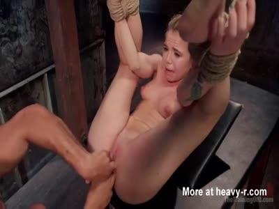 Tied Babe Punished Hard