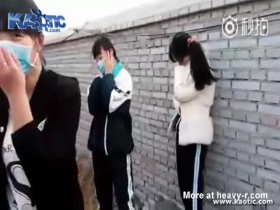 Chinese Girl Takes A Beating From A Guy While Friends Watch