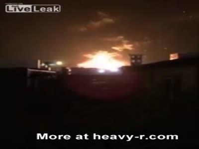 Tianjin Explosion Shockwave