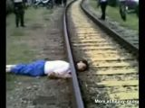 Perfect Beheading By Train
