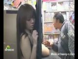 boob fondling at adult video store
