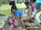 Wild College Girls At Party