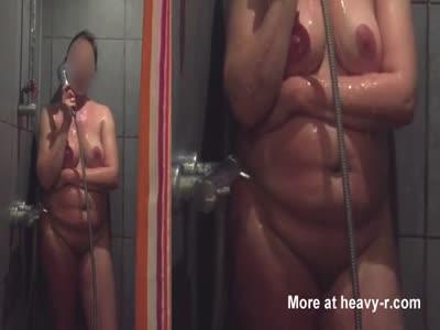 Spying On Showering Girlfriend