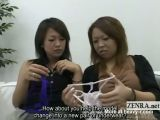 Subtitled CFNM Japanese penis in lingerie appreciation