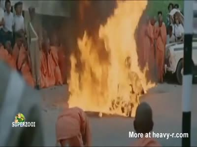 Buddist Monk Self Immolates