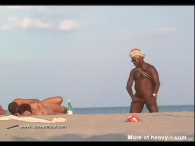 Black Guy Masturbating On Nudist Beach