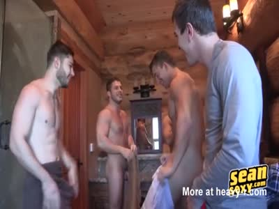 Five Guys Having Some Awesome Group Orgy