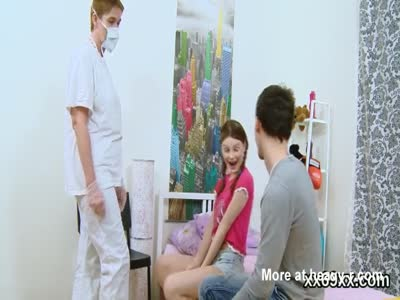 Bf assists with hymen examination and nailing of virgin swee