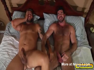 Hot gay lovers with hot anal fuck