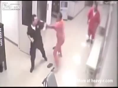 Inmate Assists Jail Guard During Attack