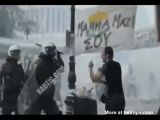 Riot police cracking protestor's skull