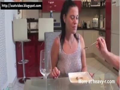 Milf Eating Her Shitty Dinner