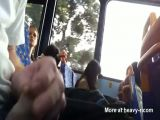 Girl Watches Public Wanker In Bus