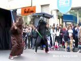 Dog Attacks Darth Vader