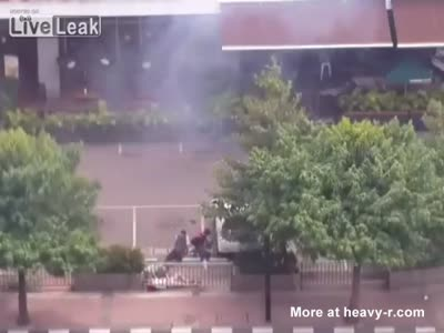 Explosion In Front Of Starbucks In Jakarta