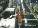 Woman vs parking barrier