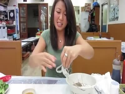 Eating Live Octopus