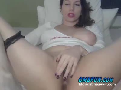 Brunette Milf Rubs Pussy Make Her Wet Visit OMBFUN Today