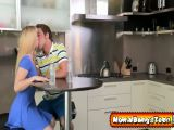 Blonde milf and teen seduce boyfriend