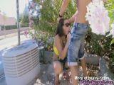 Busty Latina Fucked Outdoors