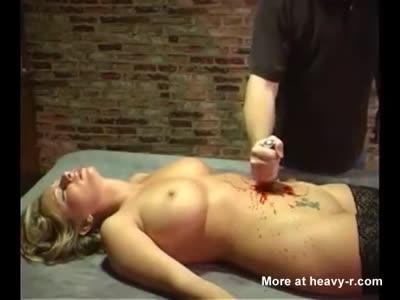 Blonde Belly Stabbed