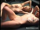 Two anorexic hotties completely naked
