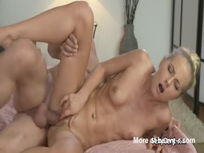 Blonde Milf Receives Belly Cumshot