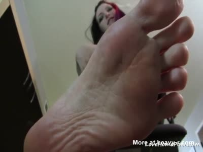 Teasing With Her Wiggly Toes