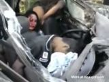 2 Woman Stuck In Car With Dead Boyfriends