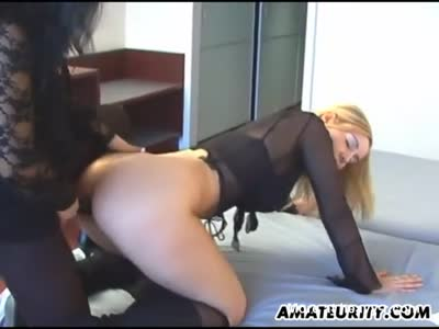 Lesbian Girlfriends Toying With Strapon